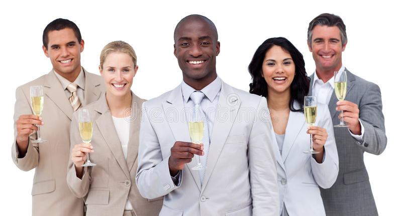 Download Multi-ethnic Business Team Drinking Champagne Stock Image - Image of accomplishment, executive: 13077521