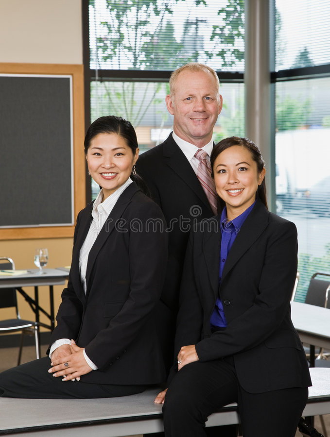 Download Multi-ethnic Co-workers In Conference Room Stock Photo - Image: 6603752