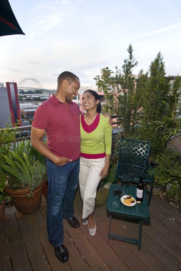 A Multi-ethnic Couple royalty free stock photo