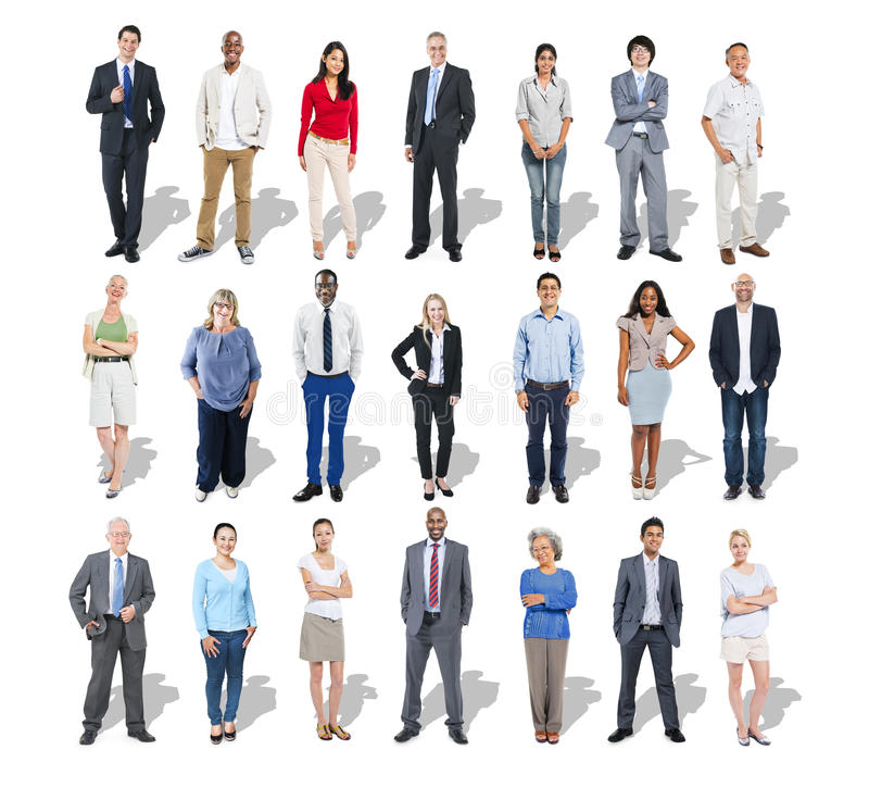 Multi-Ethnic Group of Business People royalty free stock images