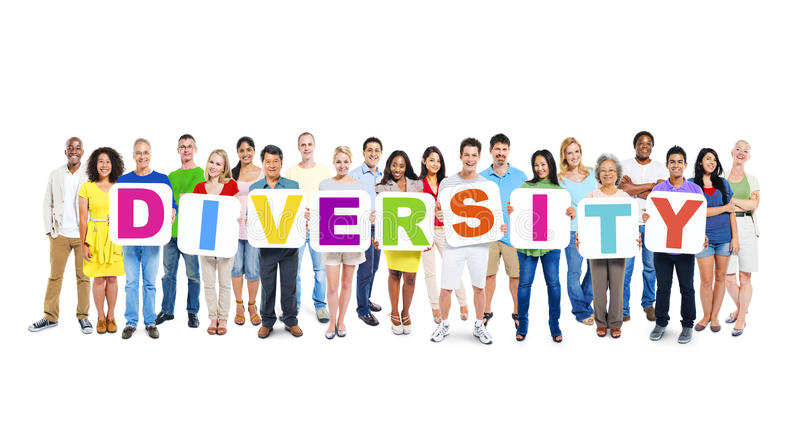 Multi-Ethnic Group Of People Holding Diversity royalty free stock photography