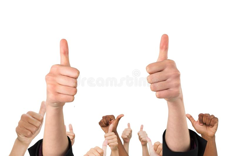 Download Multi-ethnic Hands Thump Up Stock Photo - Image of fingers, generated: 78067520