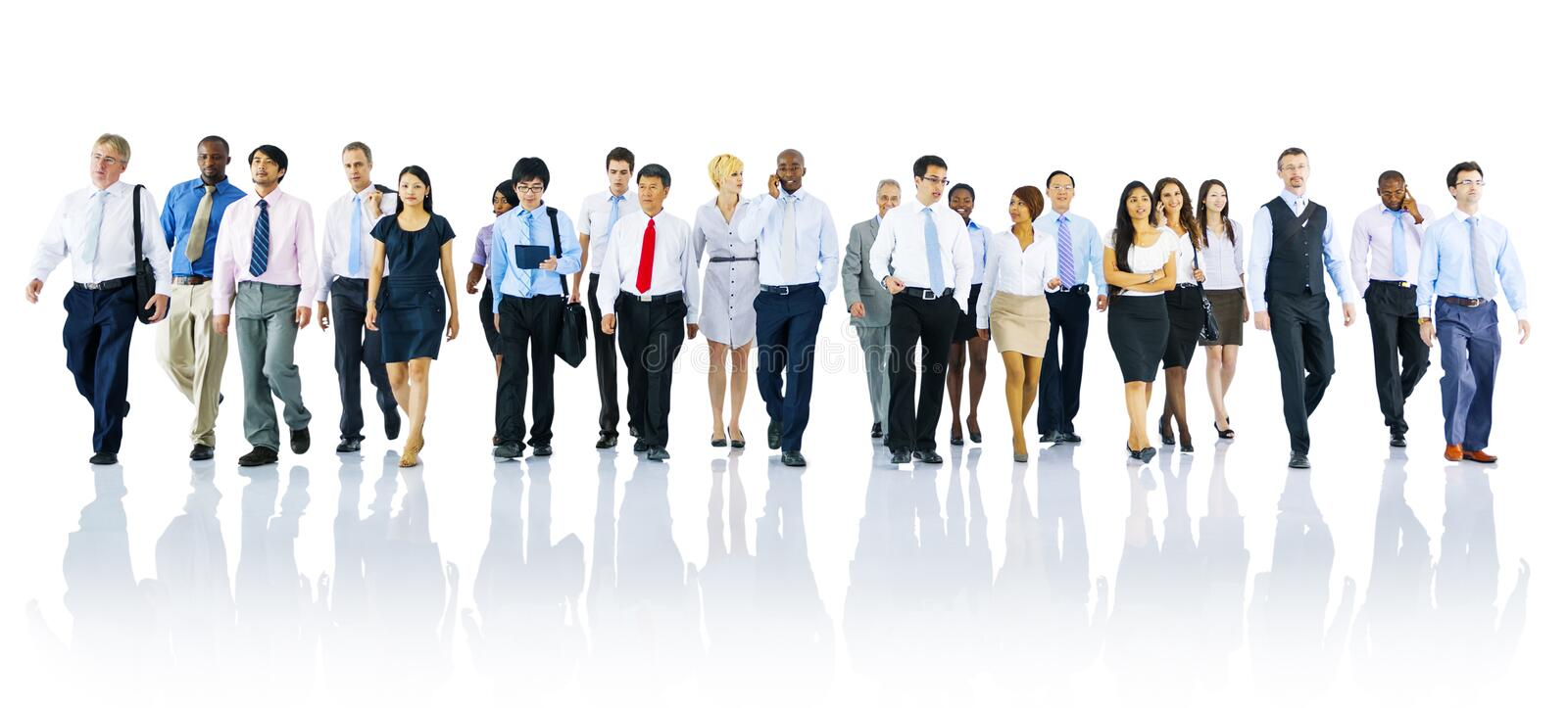 Multi-ethnic Officer Workers Success Teamwork Unity Concept stock photo