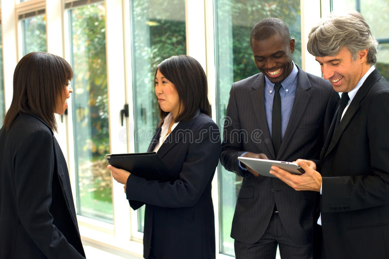 Multi-ethnic team royalty free stock image
