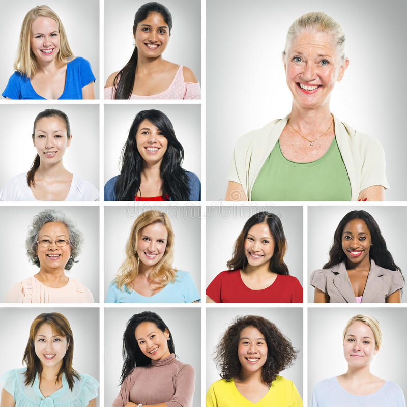 Multi Ethnic Women royalty free stock photography