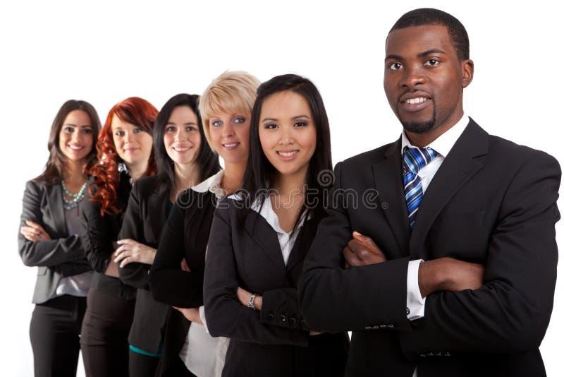 Multi etnisch commercieel team stock foto's