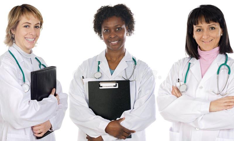 Multi-etnisch medisch team royalty-vrije stock foto