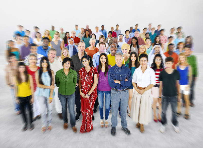 Multi-etnische Concept van de diversiteits het Grote Groep Mensen royalty-vrije stock foto's