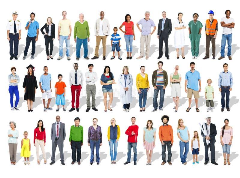 Multi-etnische Groep Mensen en Diversiteit in Carrières