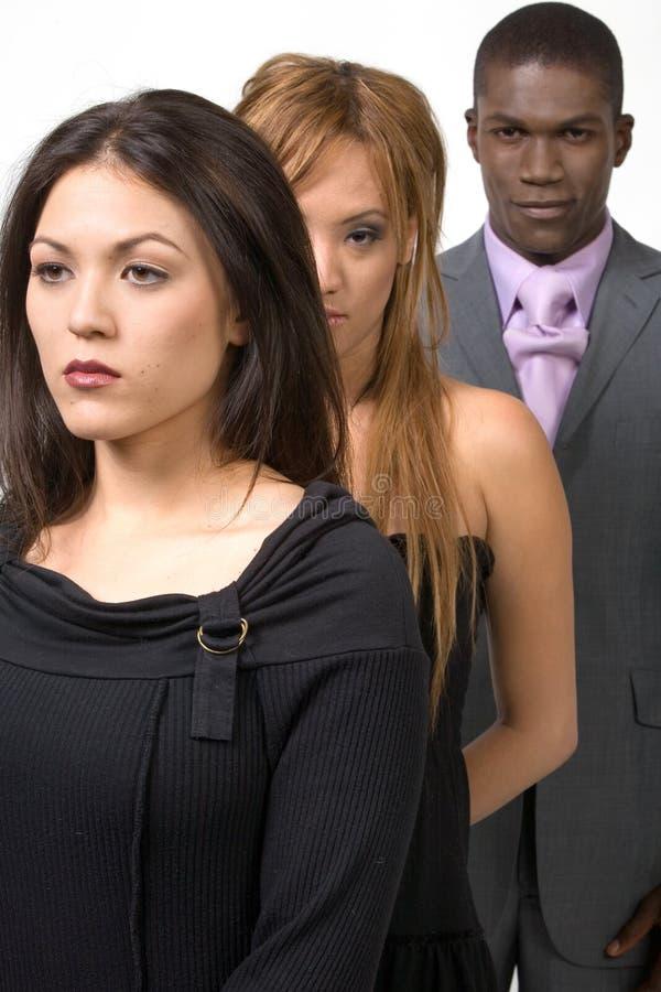 Multi-etnische groep volwassenen stock foto