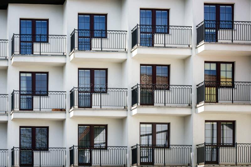 Multi family house exterior stock image