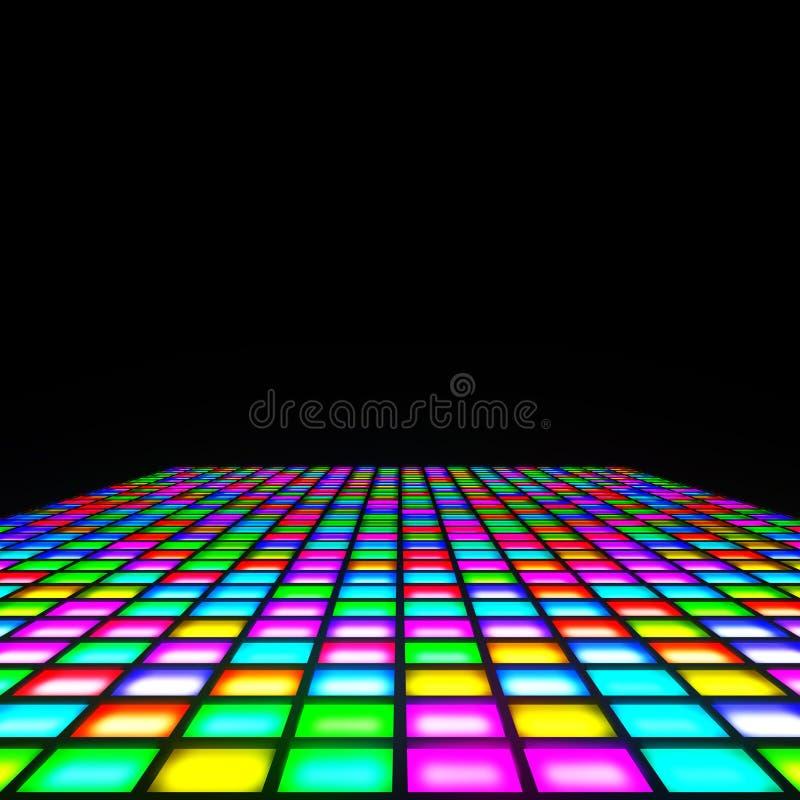 Multi Farbe beleuchtet Boden stock abbildung