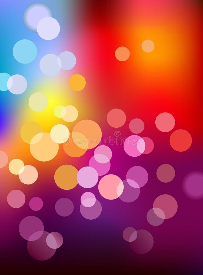 Multi Farbe defocus Leuchtehintergrund stock abbildung