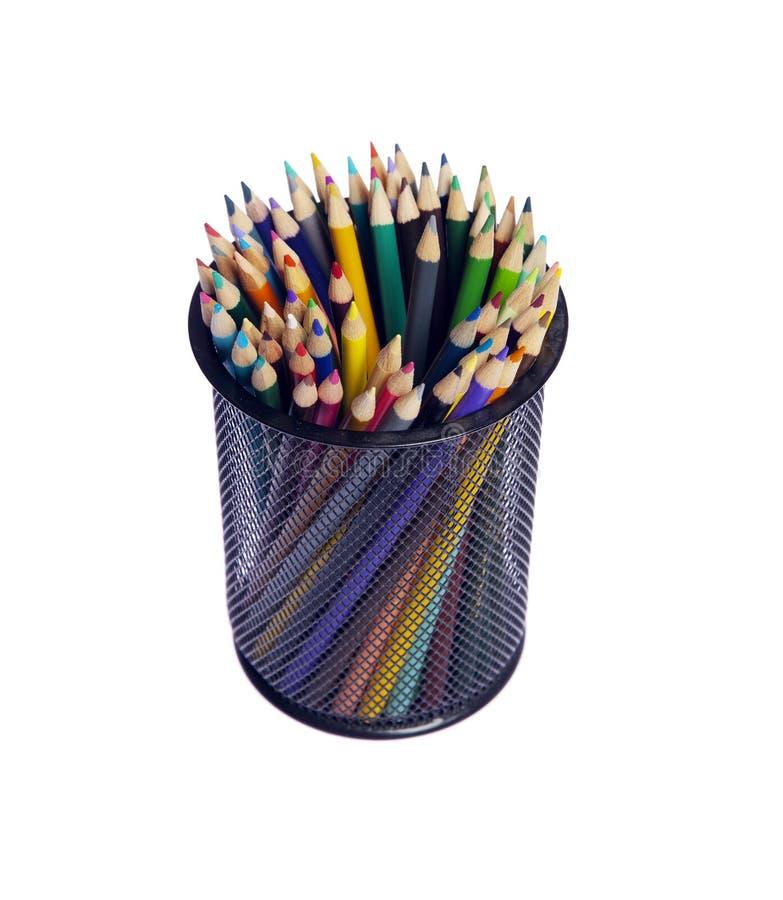 Download Multi Farbenbleistifte stockbild. Bild von weiß, bleistift - 12200751