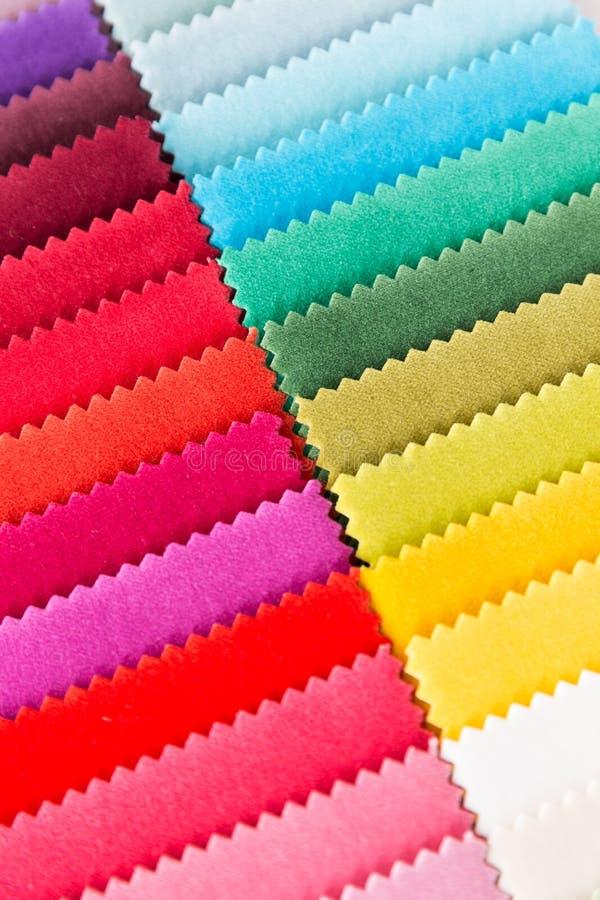 Multi Farbengewebe-Beschaffenheitsproben stockbild