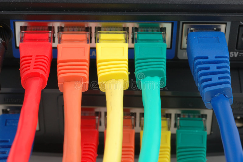 Multi Farbenseilzüge angeschlossen lizenzfreies stockbild