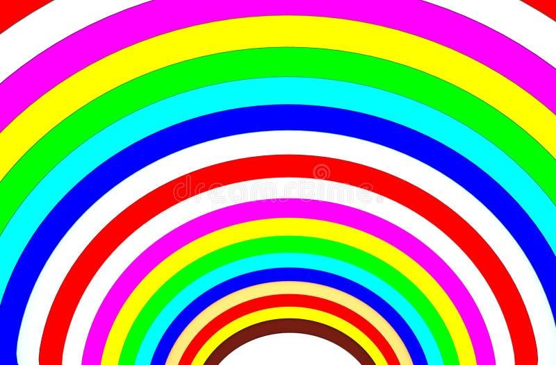 Multi Farbhalbkreis-Hintergrund stock abbildung