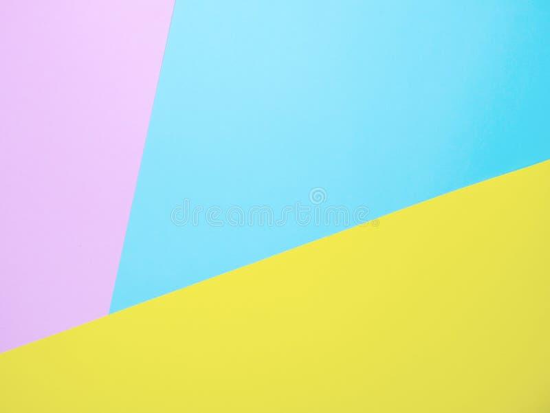 Multi Farbhintergrund vom Papier von drei verschiedenen Farben stockfotografie
