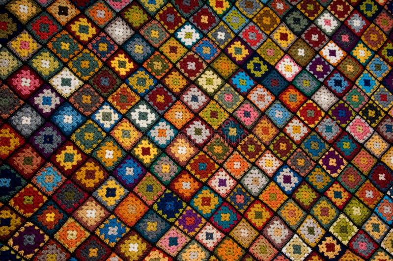 Multi farbige Decke stockfotos