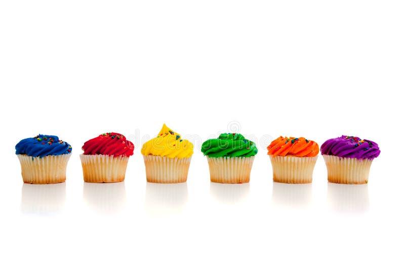Multi farbige kleine Kuchen stockfoto