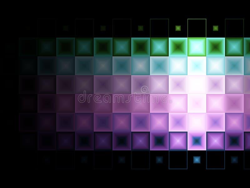 Multi farbiger Fliesehintergrund lizenzfreie abbildung