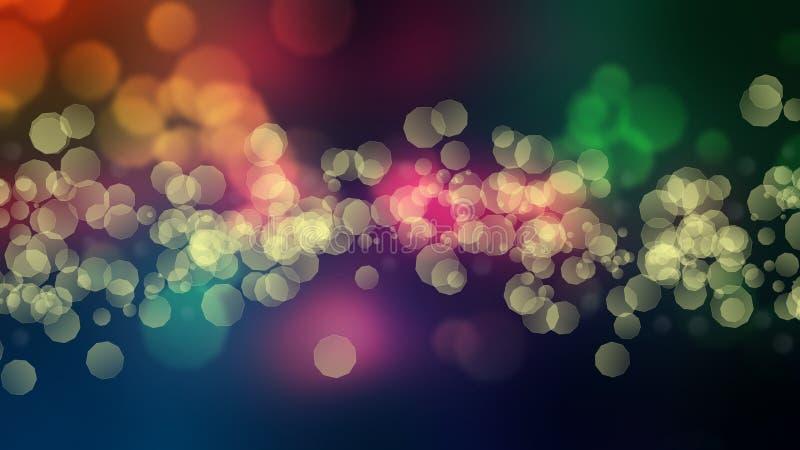 Multi farbiger Funkeln bokeh Hintergrund lizenzfreie abbildung