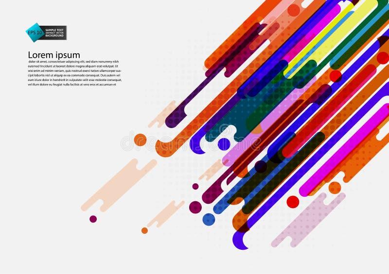 Multi farbiger geometrischer abstrakter Hintergrund mit modernem Design des Kopienraumes, Vektor-Illustration lizenzfreie abbildung