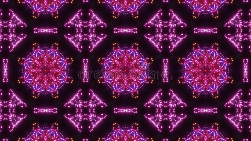 Multi Farbkaleidoskopmuster abstrakte in hohem Grade glühende Verzierung lizenzfreie abbildung