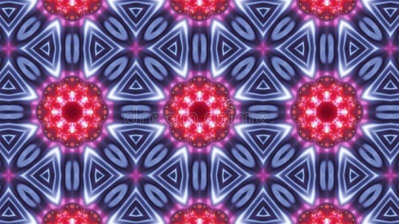 Multi Farbkaleidoskopmuster mit abstraktem blauem Kreuz lizenzfreie abbildung