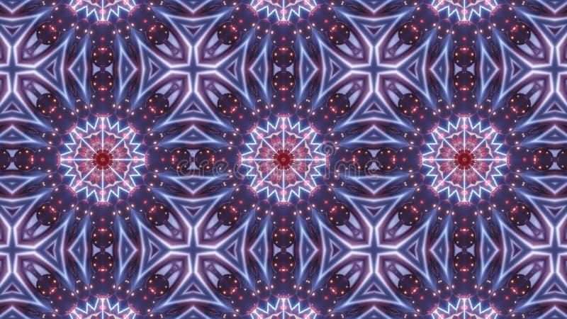 Multi Farbkaleidoskopmuster mit abstraktem Kreuz stock abbildung