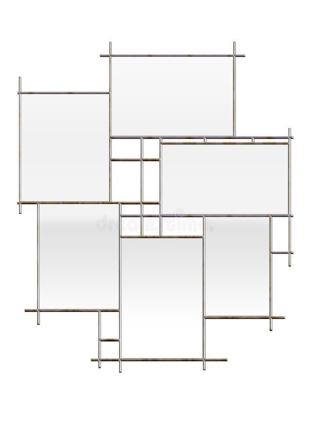Multi Fenster Feld lizenzfreie abbildung
