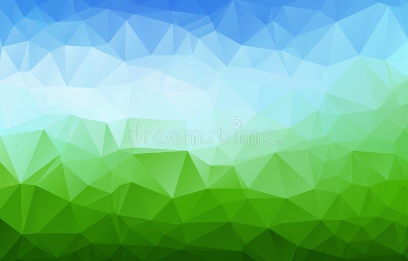 Multi fondo poligonale colorato astratto dell'estratto di vettore Fondo poligonale astratto del mosaico, modelli creativi di prog illustrazione vettoriale