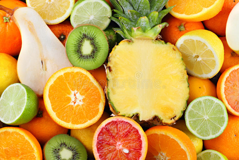 Multi fruit royalty-vrije stock afbeelding