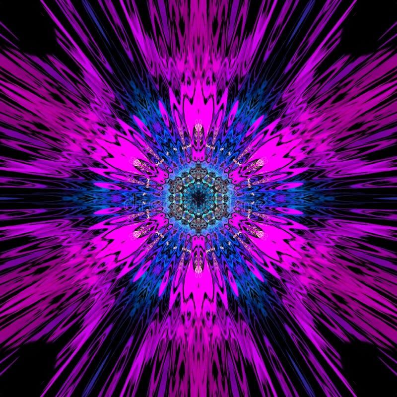 Multi fundo abstrato colorido, rosa e decora??o azul, ilustra??o digital ilustração royalty free
