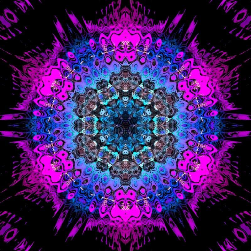 Multi fundo abstrato colorido, rosa e decora??o azul, ilustra??o digital ilustração do vetor