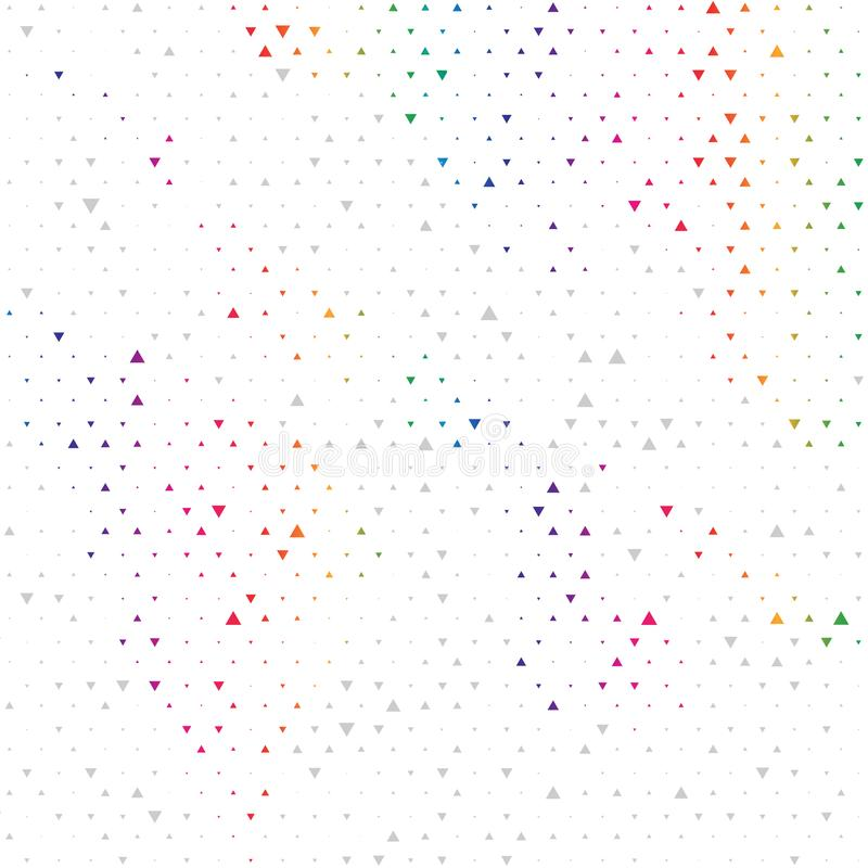 Multi fundo abstrato geométrico moderno colorido do vetor Teste padrão novo do triângulo do projeto no estilo de intervalo mínimo ilustração royalty free