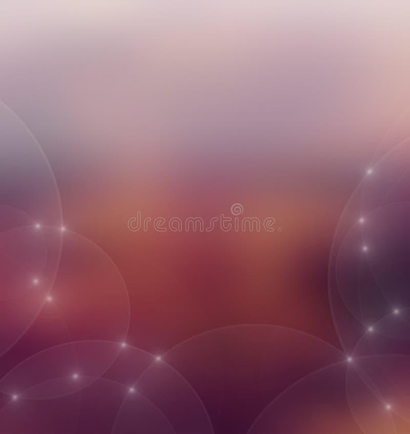 Multi fundo colorido do bokeh do brilho ilustração do vetor