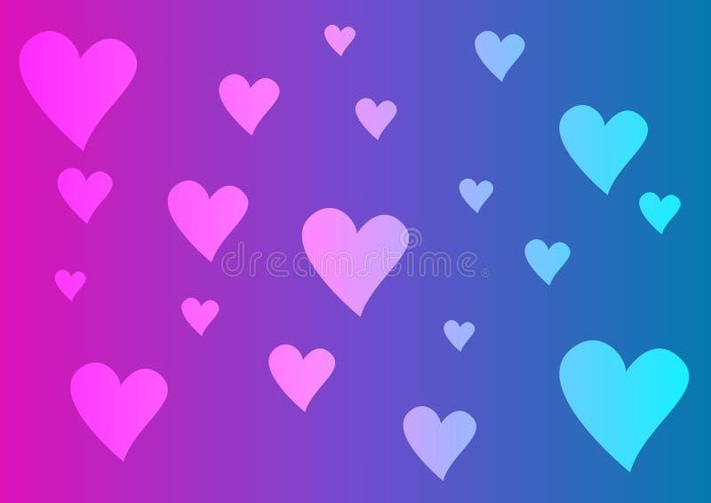 Multi fundo colorido dos corações foto de stock