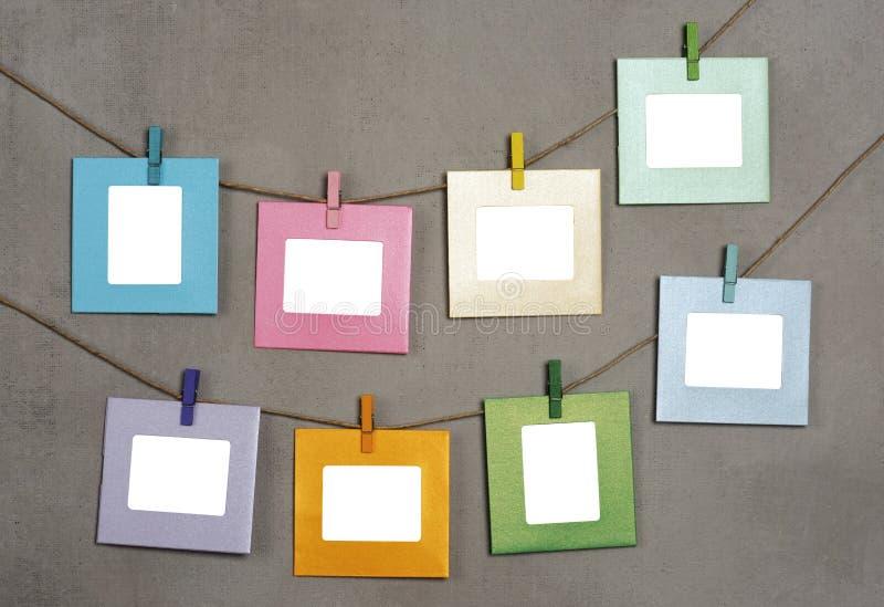 Multi gekleurde fotokaders stock afbeeldingen