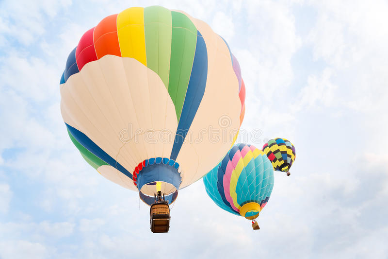 Multi gekleurde hete luchtballons royalty-vrije stock foto