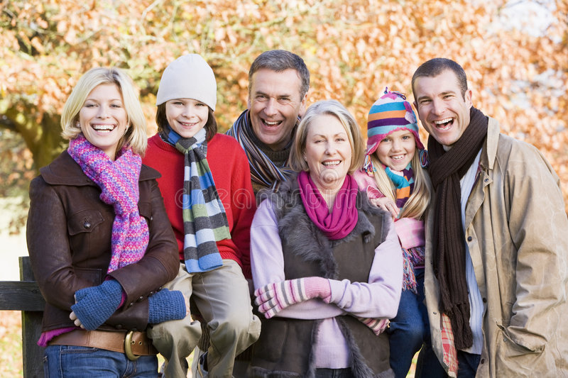 Download Multi-generation Family On Autumn Walk Stock Photo - Image of caucasian, child: 5305558