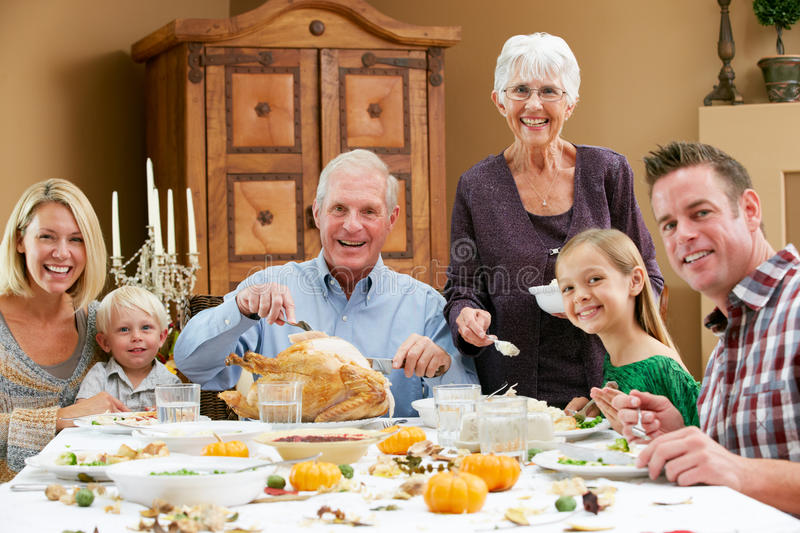 Download Multi Generation Family Celebrating Thanksgiving Stock Photos - Image: 28082803