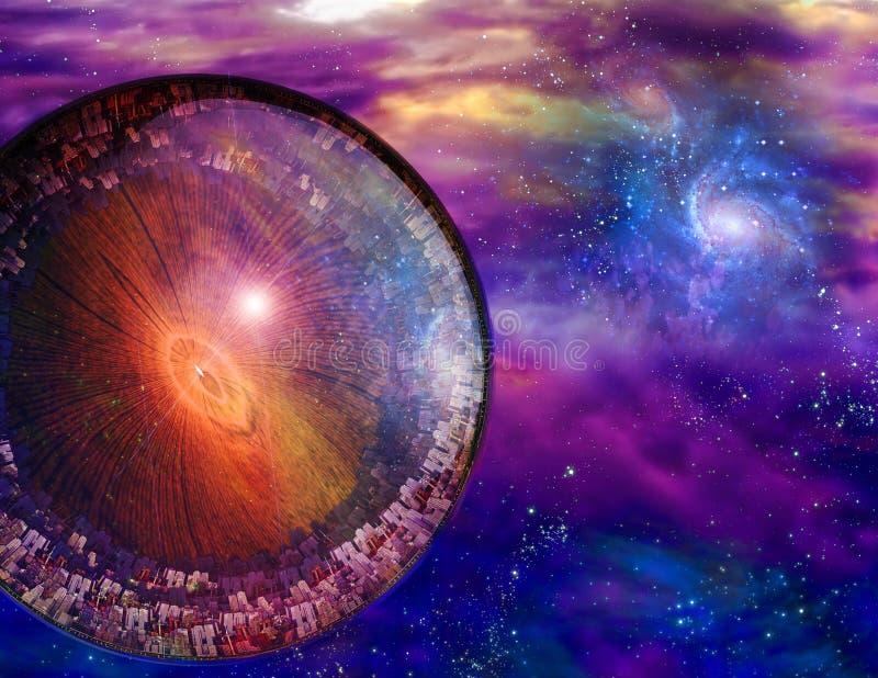 Download Multi-Generational Interstellar Ship Stock Illustration - Illustration of fantasy, background: 16862605