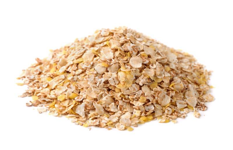 Multi grain flakes stock photos