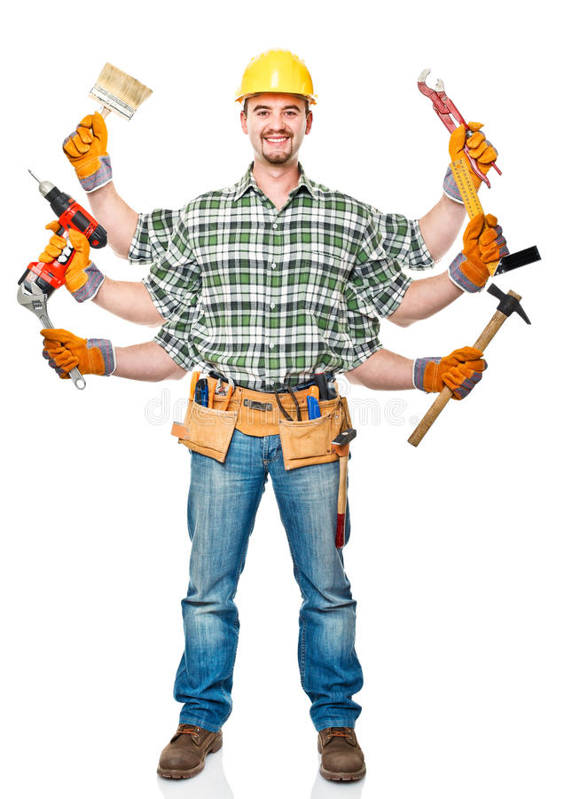 Multi handyman stock photo. Image of safety, hardhat - 22033108
