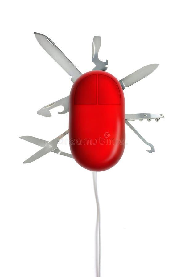 Multi hulpmiddelen op een muis vector illustratie