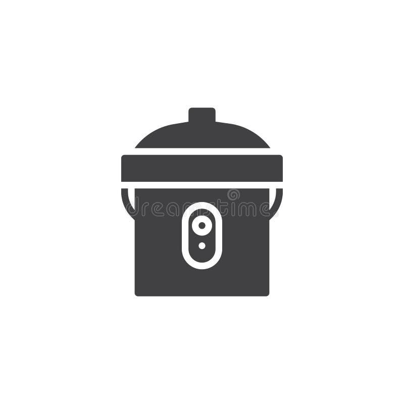 Multi icona di vettore del fornello illustrazione di stock