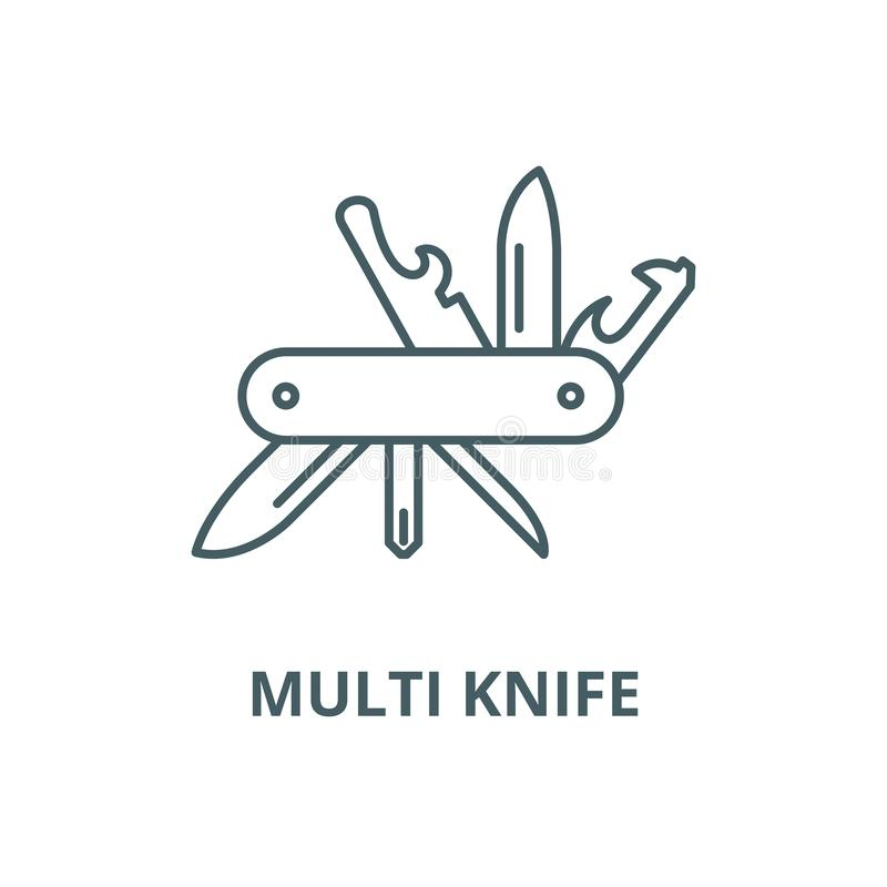 Free Multi Knife Vector Line Icon, Linear Concept, Outline Sign, Symbol Royalty Free Stock Images - 147158159
