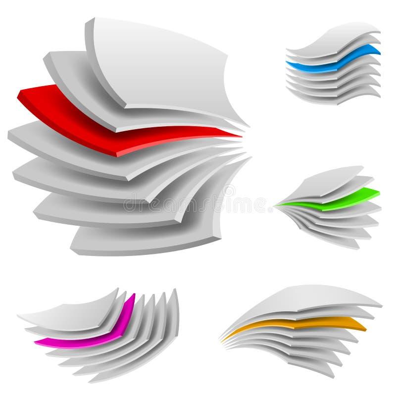 Multi lagen vector illustratie