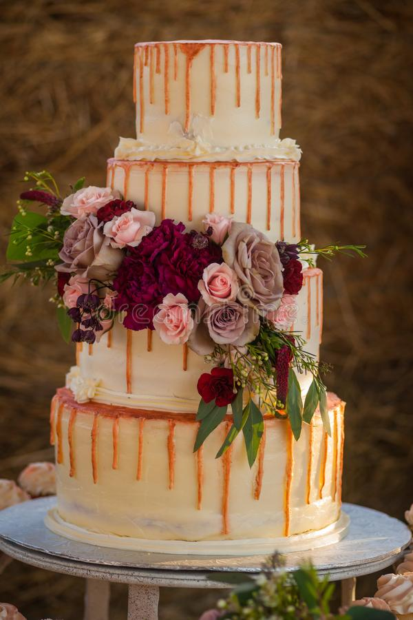 Multi Layer Wedding Cake royalty free stock images